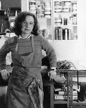 Selma in her studio